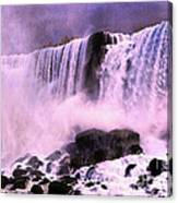 Free Falls Oil Effect Image Canvas Print