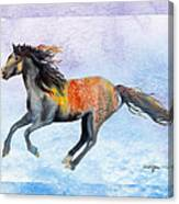Da114 Free Gallop By Daniel Adams Canvas Print