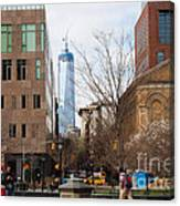 Freedom Tower From Washington Square Canvas Print