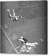 Freefalling Nova Scotia Skydivers In Stewiacke Canvas Print