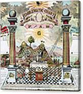 Freemason Emblematic Chart Canvas Print
