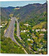 Freeway Sepulveda Pass Traffic Bel Air Crest California Canvas Print