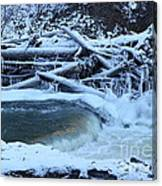 Freezing Dam Canvas Print