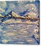 Freezing River Canvas Print