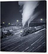 Freight Train About To Leave The Atchison Circa 1943 Canvas Print