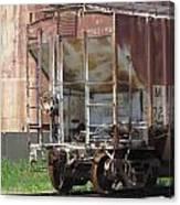 Freight Train Wheels 12 Canvas Print