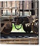 Freight Train Wheels 13 Canvas Print