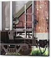 Freight Train Wheels 16 Canvas Print