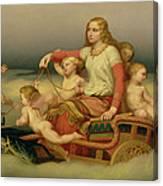 Freja Seeking Her Husband Canvas Print
