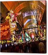 Fremont Street Experience Lights Canvas Print