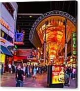Fremont Street Lights 2 Canvas Print