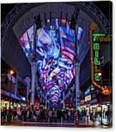 Fremont Street Lights Canvas Print