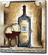 French Bordeaux Original Madart Painting Canvas Print