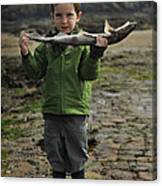 French Boy With Fish Canvas Print