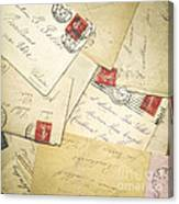 French Correspondence From Ww1 #1 Canvas Print