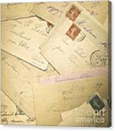 French Correspondence From Ww1 #2 Canvas Print