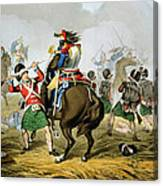 French Cuirassiers At The Battle Canvas Print
