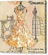 French Dress Shop-c Canvas Print