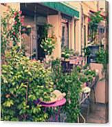 French Floral Shop Canvas Print