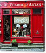 French Gift Shop Canvas Print