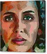 French Gypsy Girl Canvas Print