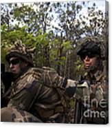 French Marines Scout Ahead Of A Patrol Canvas Print