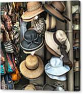 French Market Hats For Sale Canvas Print