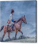 French Officer On Horse Grand Encampment  Canvas Print