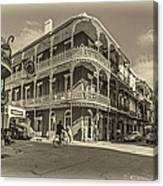 French Quarter Afternoon Sepia Canvas Print
