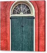 French Quarter Arched Door Canvas Print