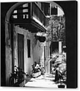 French Quarter Courtyard Canvas Print