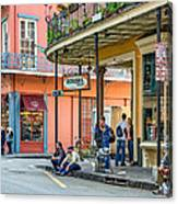 French Quarter - Hangin' Out Canvas Print