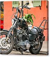 French Quarter Harley Canvas Print