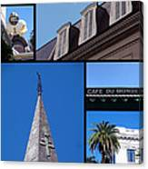 French Quarter Looking Up Canvas Print