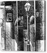 French Quarter Street Lamp Canvas Print