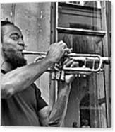 French Quarter Street Musician Canvas Print