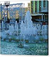 French Quarter Water Fountain Canvas Print
