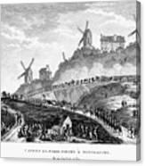 French Revolution Paris Canvas Print