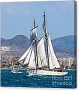 French Shooner Alicante Canvas Print