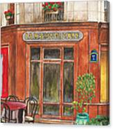 French Storefront 1 Canvas Print
