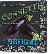French Veggie Labels 4 Canvas Print