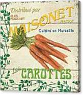 French Veggie Sign 2 Canvas Print