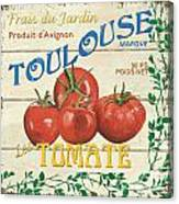French Veggie Sign 3 Canvas Print