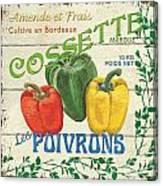 French Veggie Sign 4 Canvas Print