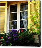 French Window Dressing Canvas Print