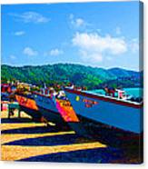 Frenchtown Boats Canvas Print