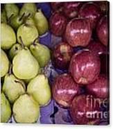 Fresh Apples And Pears On A Street Fair In Brazil Canvas Print