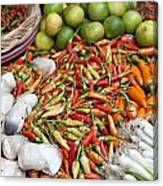 Fresh Chili Peppers Canvas Print