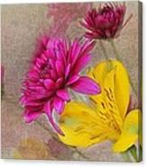 Fresh Flowers Painted Canvas Print