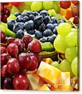 Fresh Fruits And Cheese Canvas Print